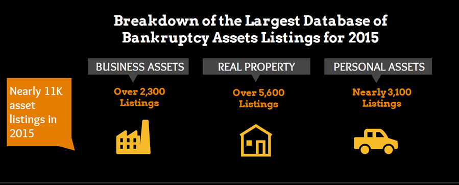 Infographic of 2015 Bankruptcy Asset Listings - Click to view