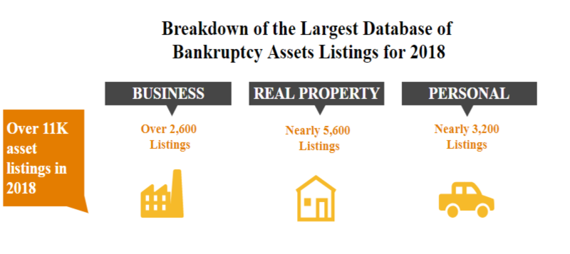Infographic of 2018 Bankruptcy Asset Listings - Click to view
